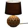 Deep Surface Round Ceramic Black Table Lamp