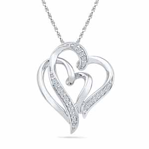 2 Soul 1 Heart Diamond Pendant