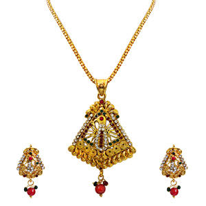 Pendant Necklace & Earrings Set